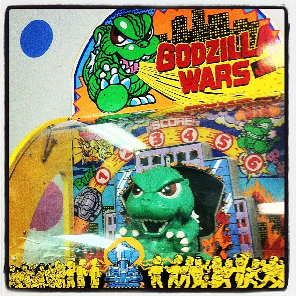 godzilla wars jr. video game machine