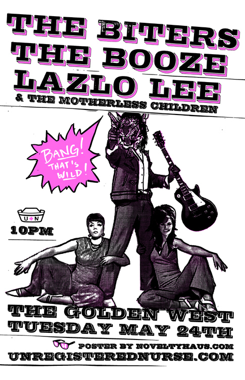 the biters booze lazlo lee and the motherless children golden west may 24th 2011 punk show baltimore unregistered nurse booking novelty haus