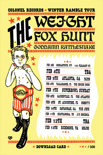 orin brecht colonel records winter ramble tour the weight fox hunt goddamn rattlesnake country